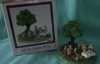 "Liberty Falls~No Paper ""ice Cream Social"" Christmas Western Snow Village Figure"