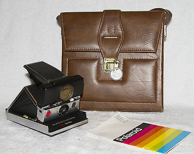 ☆☆☆POLAROID SX-70 LAND CAMERA SONAR ONE STEP Auto Focus ☆☆☆ With Leather Case