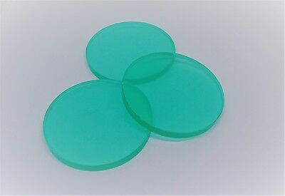 Laser Cut Acrylic 55mm Disc Circle 5mm Thick Clear Plastic