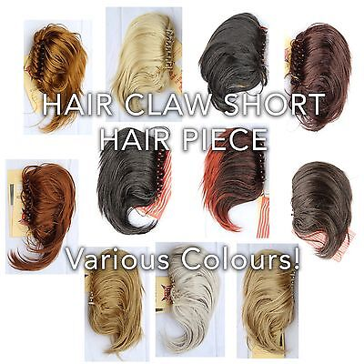 Pride of USA Claw Clamp Short Hair Piece Clip on Yaki Ponytail Pony Extension