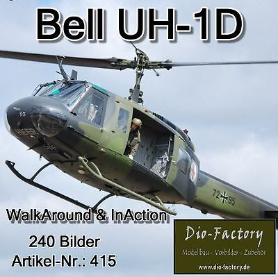 ** Bell UH-1D Bundeswehr ** WalkAround & InAction ** 240 Bilder **FOTO-DVD 415*