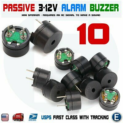10 x Passive Buzzer Acoustic Component Mini Alarm Speaker For Arduino 5V USA