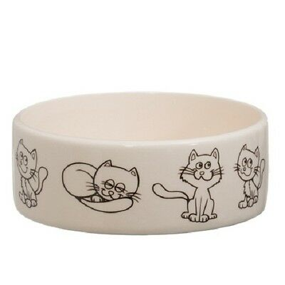 Puppy Pet Dog Cat Ceramic Dish Food Water Feeding Bowl (Cats)