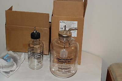allied healthcare chemtron gomco suction bottles 2800ml and 600ml nos free shipp