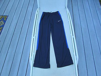 Nike Dri Fit Kid's Youth Athletic Pants Size Large Navy Blue 100% Polyester