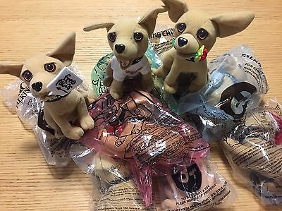 11 Taco Bell Talking Dog Chihuahua Stuffed Animals 8 are Sealed NIP