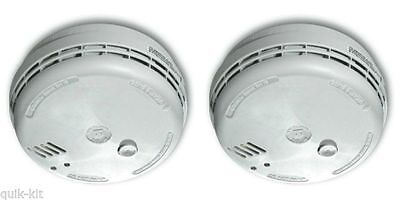 Pack of 2 AICO Smoke Alarm Mains / Battery Back up (Ionisation) - Ei141RCX2