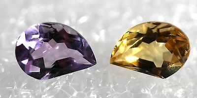 Genuine Natural Amethyst & Citrine matching Pair ,Jewelry Grade AM-88