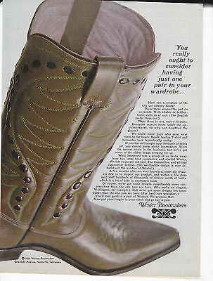 Original Print Ad-1966 WESTER BOOTMAKERS-consider having just one pair wardrobe