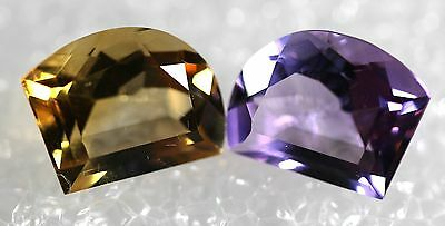 Genuine Natural Amethyst & Citrine matching Pair ,Jewelry Grade AM-89
