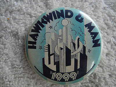 "Hawkwind & Man - 1974 Concert - ""1999 Tour"" - Orig Pin Back Button - Very Rare!"