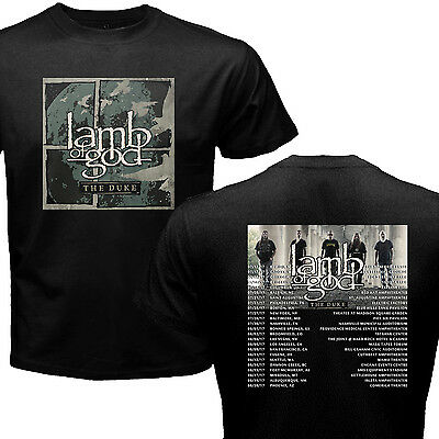 Lamb Of God Black Shirt With Tour Dates 2017 By Rz All Size