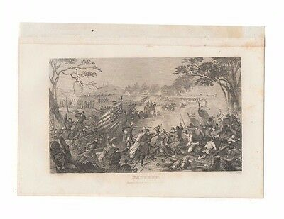 Newbern - original antique 1863 print of battlefield from Civil War history book