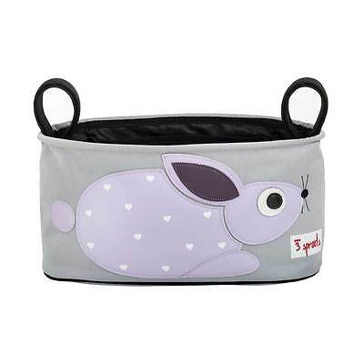 NEW 3 Sprouts Stroller Organiser : Purple Rabbit