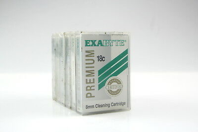 Lot of 6 Exabyte 8MM Premium 18C Cleaning Tape Cartridge 309258-002