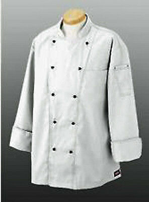 Dickies Executive Chef Coat CW070302  NWT White Professional, Culinary