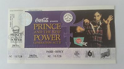 PRINCE  ACT II TOUR Paris Bercy Complete Ticket SEP 1993