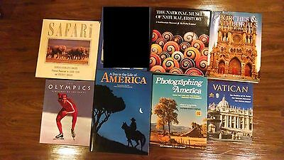 120 Book Collection with Coffee Table Books on History Churches Museum Olympics