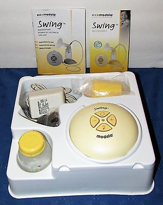 Medela Swing Breastpump With Power Cord Bag Bottle Free Shipping