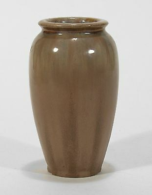 Fulper Pottery arts & crafts semi matte Elephant's Breath brown ovoid form vase