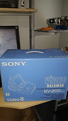 Brand NEW Sony GV-200 8mm Video 8 Walkman Player / Recorder Camcorder OLD STOCK