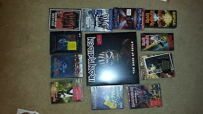 Iron Maiden  15 Dvd Lot W/ 2Lp Book Of Souls -2 Vhs/ Rare Lot Instant Collection