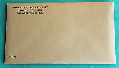 1961 US Sealed 5 Coin Proof Set Silver Coins and Envelope with Franklin Half $