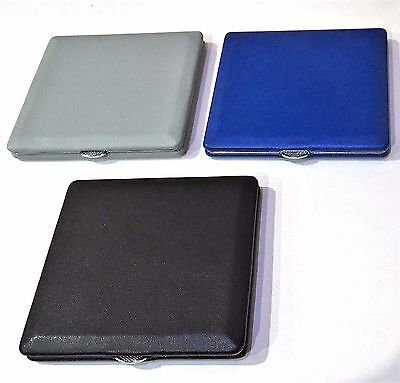 Ultra Thin King Size Leather Look Cigarette Case  Holds 8-10 Cigarettes Sleek