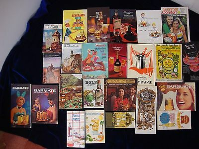 Vintage Advertising Cookbooks Mixology Drink Recipe Booklets Lot of 24