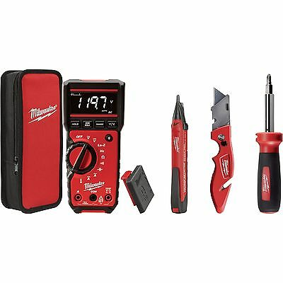 4pc Electrical Test and Measurement Combo Kit Open Box Milwaukee 2220-20