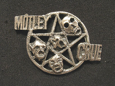 Motley Crue Vintage Pewter Pin Uk Import