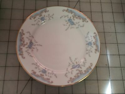 Imperial China #5303 Seville W. Dalton Blue Rose Gold Trim - (5) Bread Plates