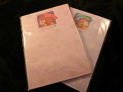 Really Cute Bear Thank You Notes (20 Sheets and Envelopes) Pink or Lilac New