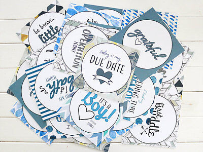 "Premature baby NICU Premmie Milestone Cards ""It's A Boy"""