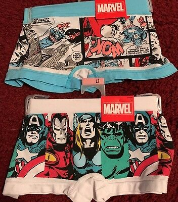 Woman's Lot Of 2 Marvel Boyshort Undies Size Large 7 NWT