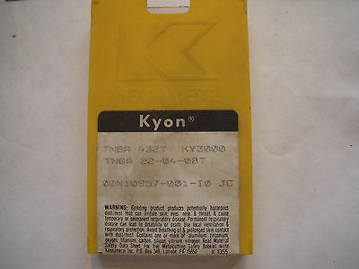 New 6 Pcs. Kennametal Kyon Tnga 432T Grade Ky3000 Ceramic Indexable Inserts