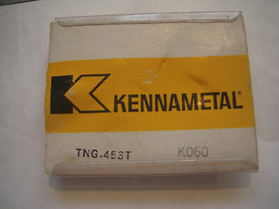 New 5Pcs ( 1 Pack ) Kennametal Tng 453T Grade K060 Ceramic Indexable Inserts