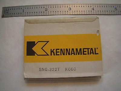 New 5Pcs Kennametal Sng 322T Grade K060 Ceramic Indexable Inserts