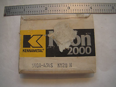 New 4 Pcs. Kennametal Kyon 2000 Snga 434S Grade Ky20 N Ceramic Indexable Inserts