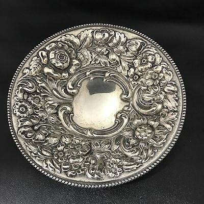 STERLING SILVER REPOUSSE CANDY DISH by DOMINICK & HAFF for J.E. CALDWELL