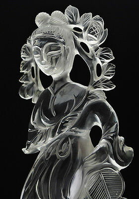 A Fine Chinese Carved Rock Crystal Figure