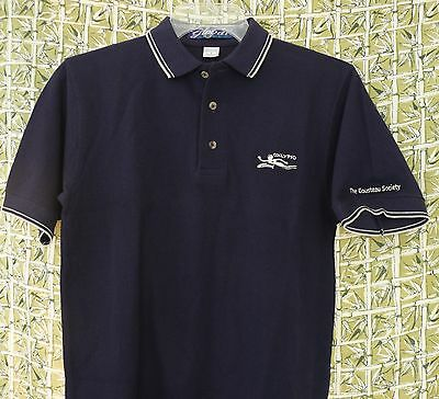 Vtg Calypso Cousteau Society Small Henley Shirt Jacques Research Vessel 80's Era