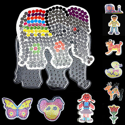 Kids Small Pegboards for Perler Bead/Hama Fuse Beads Clear Multi Design Board B9