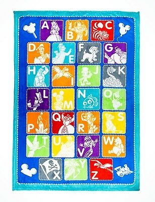 Disney Parks Mickey Mouse & Friends Alphabet Throw Alice Pooh Tinkerbell