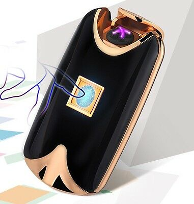 Fingerprint Touch Electric LIGHTER USB Rechargeable Double ARC Flameless Plasma