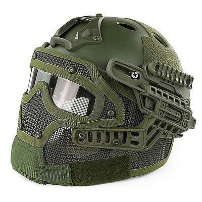 Outdoor Protective Tactical Helmet Airsoft Paintball Tactical Full Face Mask