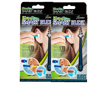 2 x Smart Budz Earwax Remover w/ 16 Soft Touch Tips