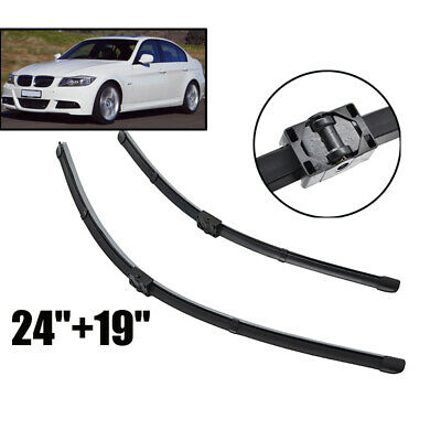 For 05-09 BMW 3 series E90 E91 Windshield Wiper Blades Windscreen Front Window
