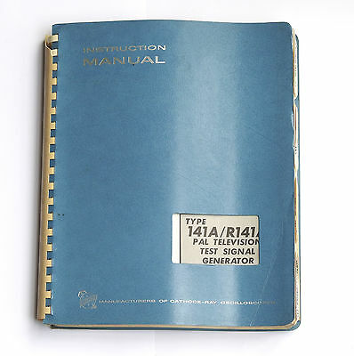 Tektronix 141A / R141A PAL Test Signal Generator Service Manual
