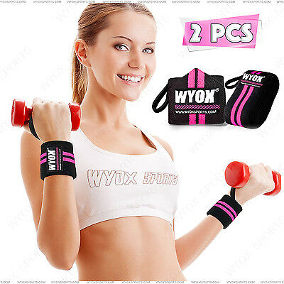"""Weight Lifting Wrist Joint Support Brace Elastic Wrap Strap Band Gym 3"""" x 18"""""""